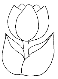 Small Picture Tulip Template Printable Coloring Pages for Kids craft time