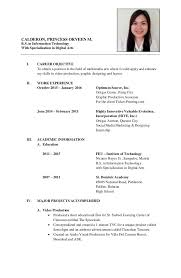Luxury Formal Curriculum Vitae Sample Photos Example Resume And