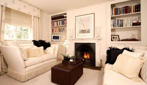 Contemporary Cozy Living Room With Fireplace Ideas Intended