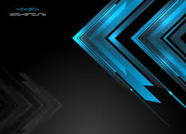 Blue Abstract Elements With Black Background Vector Free