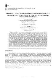 pdf numerical study of the heat transfer