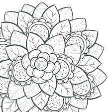 Floral Coloring Sheets Hooklihealthclub
