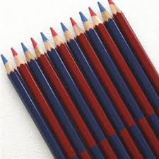 Red Checking Blue Red Checking Pencil Stubby Pencil Studio Student