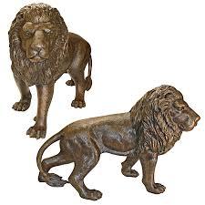 image is loading design toscano guardian lion cast bronze garden statues