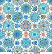 Morrocan Pattern Amazing Vector Moroccan Seamless Pattern Floral Spring Or Summer Wallpaper