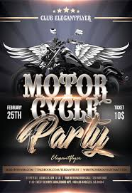 motorcycle club flyers motorcycle party flyer psd template by elegantflyer