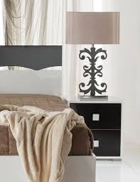 contemporary bedside furniture. Dante, Modern 2-Drawer Bedside Cabinets In White And Black Lacquer Finish Contemporary Furniture D