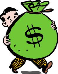 Rich man with money sack | Free SVG