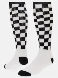checkerboard knee high sock