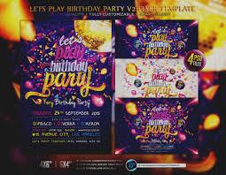 Birthday Invitation Flyer Template Trend Birthday Invitation Flyer Template Party Free PhotoShop 10
