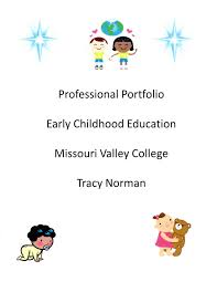 Resume Portfolio Cover Page Tracy's Early Childhood Portfolio Cover page 93