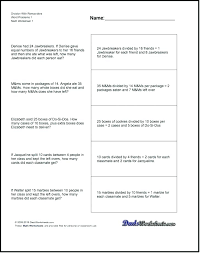 4th grade multiplication problems fun math worksheets for grade multiplication word problems division with remainders mathematical