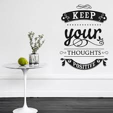 wall decal for office. Motto Quotes Wall Stickers \u0027Keep Your Thoughts Positive\u0027 Decal For Office Bedroom Decor L
