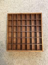 wood shot glass cabinet case holder