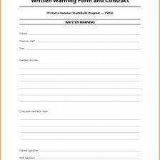 Verbal Warning Sample Employee Bwrittenb Bwarningb Notice Form 11270312750561 Written