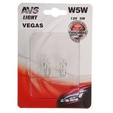 <b>Лампа</b> автомобильная <b>AVS Vegas</b>, W5W, 12V, набор 2 шт ...