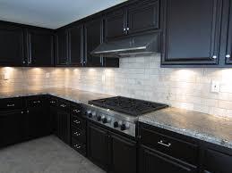 Backsplash For Dark Cabinets White Glass Tile Backsplash With Dark Cabinetsjpg 1024768