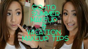 go to summer makeup look vacation makeup tips