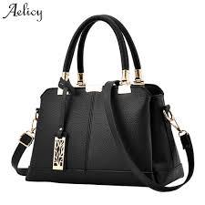 Replica Designer Bags Us 10 77 43 Off Aelicy Pu Leather Luxury Handbags Women Bags Fake Designer Handbags 6 Colors Female Shoulder Bag Ladies Top Handle Bag 1023 In