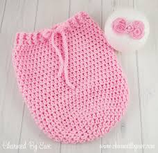 Newborn Crochet Patterns Best Newborn Swaddle Sack Charmed By Ewe