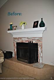 Tile Fireplace Makeover How To Tile Fireplace Makeover Phase One Casa Cintron