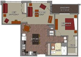1 Bedroom 1 Bathroom Den Style C2