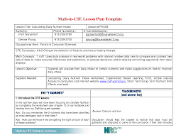 Lesson Plans Formats Elementary Writing Lesson Plan Template Elementary