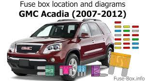 gmc acadia fuse box wiring diagram basic fuse box location and diagrams gmc acadia 2007 2012