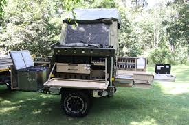 Camper Trailer Kitchen Slide Out L Shaped Kitchen Including Washing Up Basins Drawers