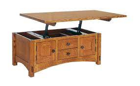 No matter the size coffee table you need, you can find the right mission style one for your home made from durable hardwood. Amish Lucern Mission Cabinet Lift Top Coffee Table