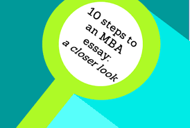 10 Steps To Writing An Essay Mba Essays Archives Applicantlab