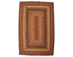 homespice decor jute braided rectangular red area rug