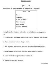 french er verbs french regular er verbs verb conjugation quiz 1 present tense test