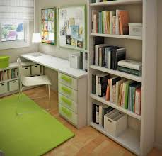 small office room ideas. Stunning Design Of The Brown Wooden Floor Added With Green Rugs And Drawers On White Small Office Room Ideas