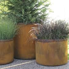new large outdoor planter personalized size metal box for china supplier tree idea fill bottom canada uk lowe