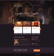 Elegant Opera Singer Website Template 47441