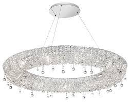 dainolite lux 3614c pc 22 light oval crystal chandelier pc finish 36 wide