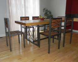 Butcher Block Farm Dining Table Wood And Steel Dining Table Broadway Extendable Dining Table
