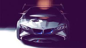 Wallpaper BMW concept car, art drawing ...