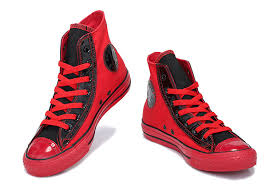 converse shoes black and red. red black high tops converse heritor chuck taylor all star canvas sneakers,buy shoes and s