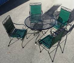 iron vinyl strap chairs with wi mesh top table patio chair repair