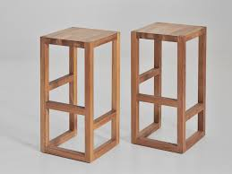 Solid wood stool STEP by Vitamin design