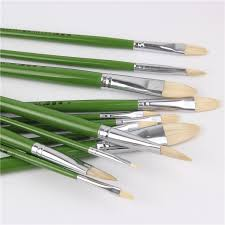 6pc oil painting brushes