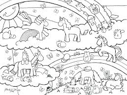 unicorn and rainbow coloring pages rainbow dash color picture children coloring unicorn rainbow coloring pages unicorn
