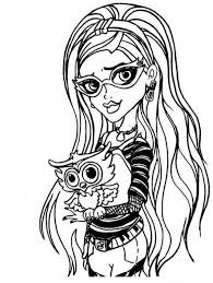 Small Picture Draculaura Clawdeen Wolf Ghoulia Yelps Monster High Coloring