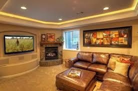 image of design led basement lighting