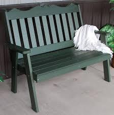 polyresin english garden bench 4 or