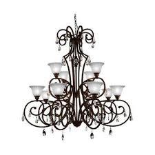 shakira 12 light dark bronze chandelier with white shade