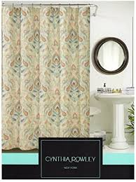 grey and green shower curtain. cynthia rowley ischia paisley fabric shower curtain in shades of burnt orange, seafoam green, grey and green