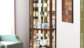 antique corner curio cabinet ed with curved glass white